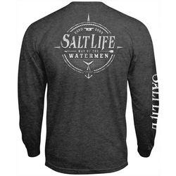 Mens Watermen Way Heathered Long Sleeve T-Shirt