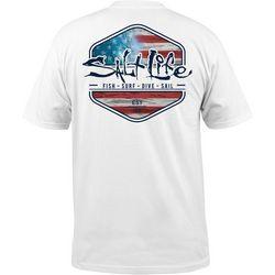 Salt Life Mens Ameriseas Logo T-Shirt