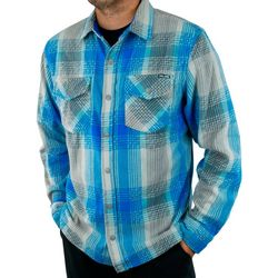 PELAGIC Mens Quest Performance Flannel Button Down Shirt