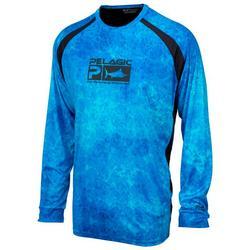 Mens Dorado Scale Long Sleeve Vaportek Shirt