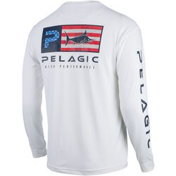 PELAGIC Mens Aquatek IconAmericana  Logo Shirt