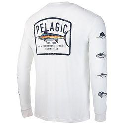 PELAGIC Mens Aquatek Game Fish Logo Long Sleeve Shirt