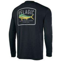 PELAGIC Mens Aquatek Game Fish Long Sleeve Shirt