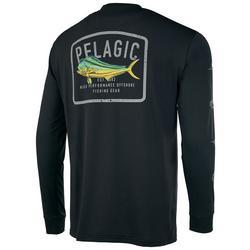 Mens Aquatek Game Fish Long Sleeve Shirt