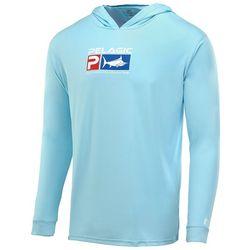 PELAGIC Mens Aquatek Deluxe Hooded Long Sleeve Fishing Shirt