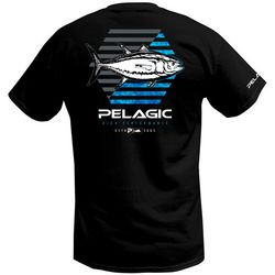 PELAGIC Mens Hexed Yellowfin Premium Short Sleeve T-Shirt
