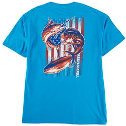 Reel Legends Mens Offshore Patriotic Graphic T-Shirt