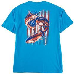 Mens Offshore Patriotic Graphic T-Shirt