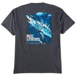 Reel Legends Mens Mako Shark Graphic T-Shirt