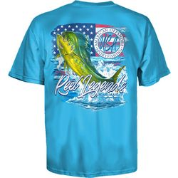 Reel Legends Mens USA Mahi T-Shirt