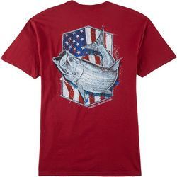 Reel Legends Mens Stars & Stripes Tarpon T-Shirt