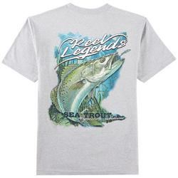 Mens Heathered Sea Trout T-Shirt