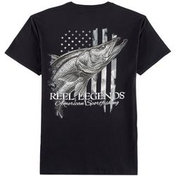 Reel Legends Mens American Snook T-Shirt