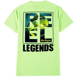 Reel Legends Mens Box Logo Mahi T-Shirt