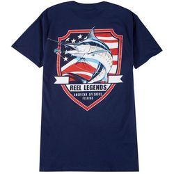 Reel Legends Mens American Shield Marlin T-Shirt