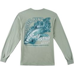 Reel Legends Mens Silver King Tarpon Long Sleeve