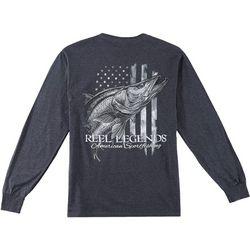 Reel Legends Mens American Snook Long Sleeve T-Shirt