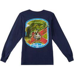 Reel Legends Mens Florida Flag Bass Long Sleeve T-Shirt
