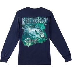 Reel Legends Mens Snook Long Sleeve T-Shirt