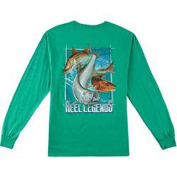 Reel Legends Mens Inshore Power Slam Long Sleeve T-Shirt