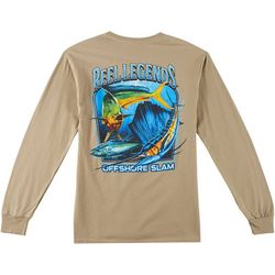Reel Legends Mens Far Out Slam Long Sleeve T-Shirt