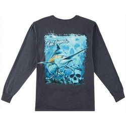 Reel Legends Mens Marlin Deep Dive Long Sleeve T-Shirt