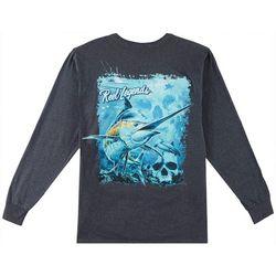 Reel Legends Mens Marlin Deep Dive Long Sleeve T-Shirt