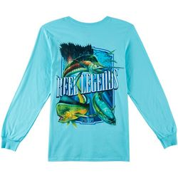Reel Legends Mens Big Trophy Slam Long Sleeve