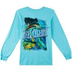 Reel Legends Mens Big Trophy Slam Long Sleeve T-Shirt