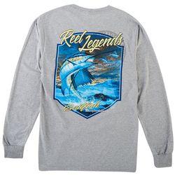 Reel Legends Mens Long Sleeve Full Sail T-Shirt
