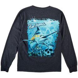 Mens Long Sleeve Marlin Deep Dive T-Shirt