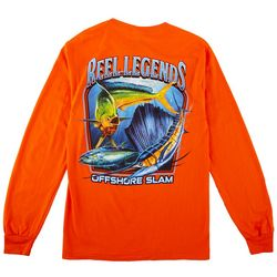 Reel Legends Mens Long Sleeve Far Out Slam T-Shirt