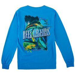 Reel Legends Mens Long Sleeve Trophy Slam T-Shirt
