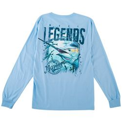 Reel Legends Mens Long Sleeve Marlin T-Shirt