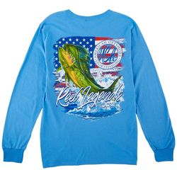 Reel Legends Mens Long Sleeve USA Mahi T-Shirt