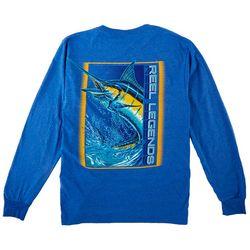 Reel Legends Mens Long Sleeve Solid Marlin T-Shirt