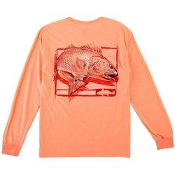 Reel Legends Mens Long Sleeve Red Fish Chase