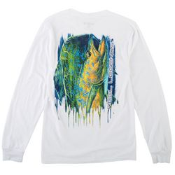 Reel Legends Mens Long Sleeve Big Time Mahi T-Shirt