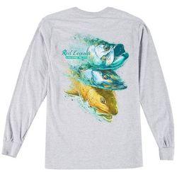 Reel Legends Mens 3 Headed Monster Long Sleeve T-Shirt