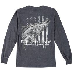Reel Legends Mens Long Sleeve Snook T-Shirt