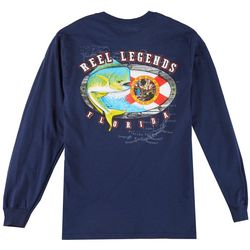 Reel Legends Mens Offshore Flag Long Sleeve T-Shirt