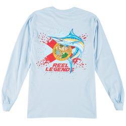 Reel Legends Mens Florida Flag Long Sleeve T-Shirt