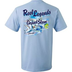 Reel Legends Mens Grand Slam Short Sleeve T-Shirt