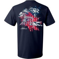 Mens Skeletal Flag Short Sleeve T-Shirt