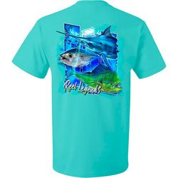 Reel Legends Mens Offshore Trio Short Sleeve T-Shirt