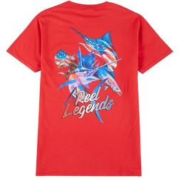 Reel Legends Mens Patriotic Slam T-Shirt