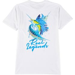 Reel Legends Mens Billfish Splatter T-Shirt