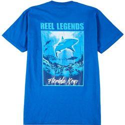 Reel Legends Mens Shark Poster Short Sleeve T-Shirt