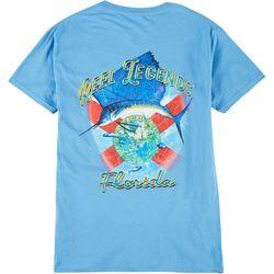 Reel Legends Mens Sailfish Florida Flag T-Shirt
