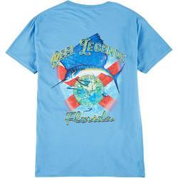 Mens Sailfish Florida Flag T-Shirt